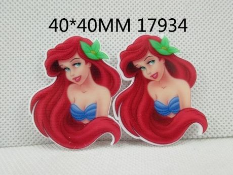 5 x 40MM NEW LITTLE MERMAID LASER CUT FLAT BACK RESIN HEADBANDS HAIR BOWS CRAFTS
